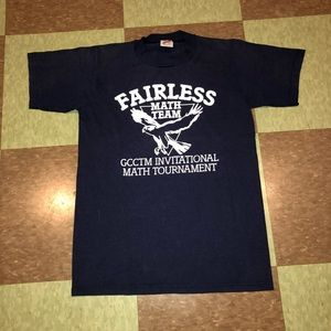 Vtg 80s math team T-shirt sm single stitch